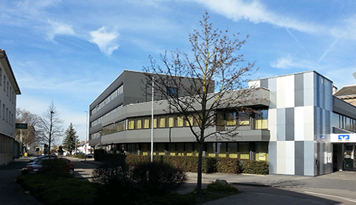 Die Praxis für Mediation, Coaching und Therapie im Gebäude der Volksbank